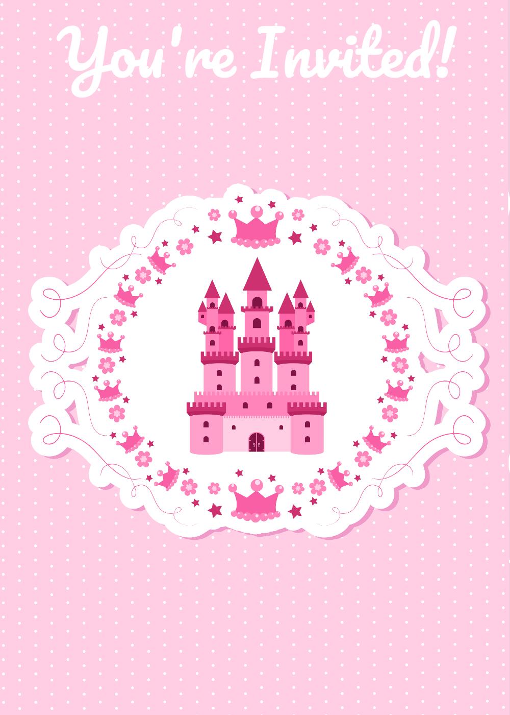 Invitations printable princess party invitations stopboris Choice Image