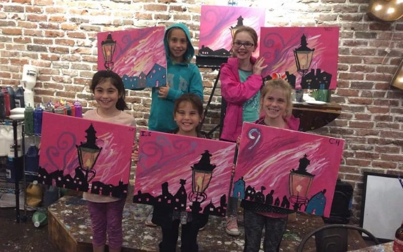 Muse Paint Bar Kids Birthday Party Place In Essex County Ma