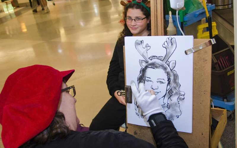 Caricature artist for hire in pa sally s faces for Craft shows in montgomery county pa