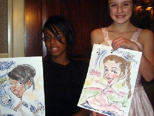 Art Girl Debbie Schafer caricature artist for childrens birthday parties in Pennsylvania