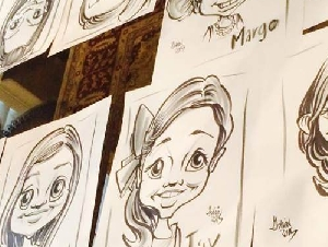 Blueline Caricatures Dallas County Texas professional caricature artists