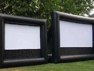 Bounce On In inflatable outdoor movie screen rentals in New Jersey