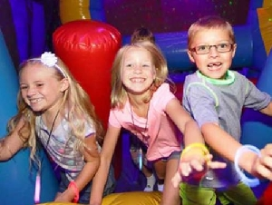 BounceU toddler birthday party places in Orange County California