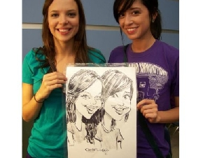 Caricatures Plus Party Caricaturists for hire In Harris County Texas
