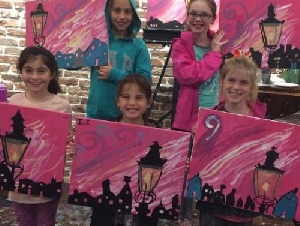 Muse Paint Bar Kids Parties in MA
