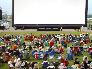 Seashore Amusements inflatable movie screen rentals in Ocean County NJ