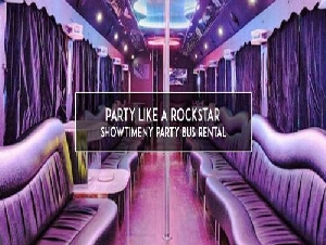 Showtimeny party bus rental in New York