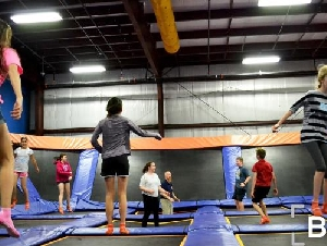 Sky Zone Bethel kids party places in Fairfield County Connecticut